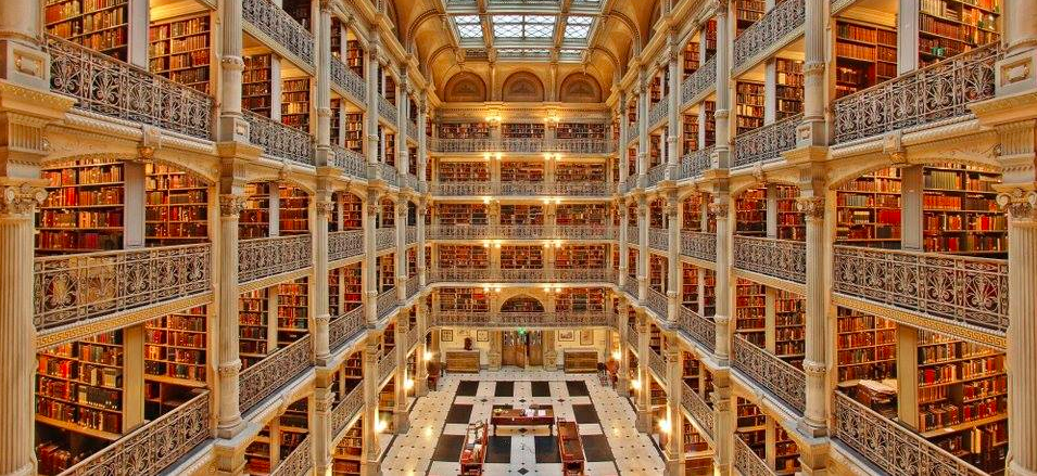 George Peabody Library in Baltimore, Book tourism