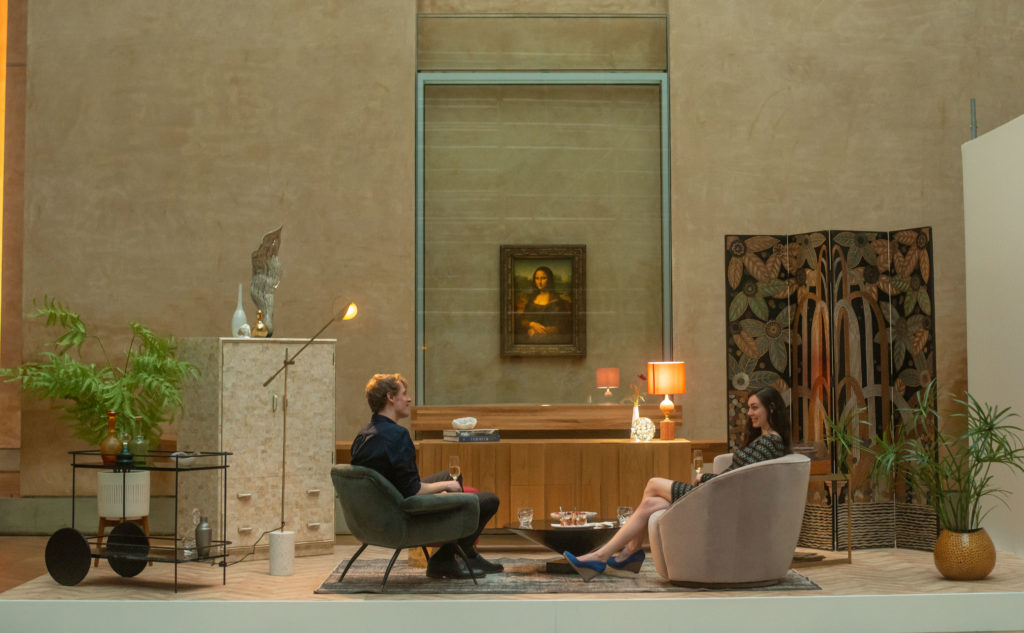 Airbnb contest winners toast Mona Lisa at Louvre